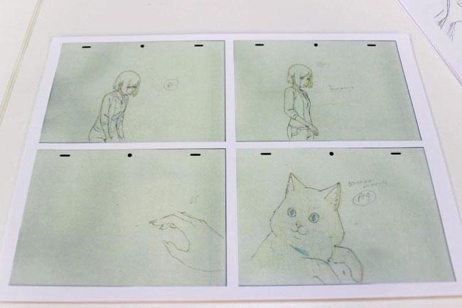 她与她的猫手稿之一